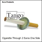 Cigarette Through 2 Euros (One Sided) by Tango
