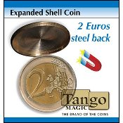 Expanded Shell Coin - 2 Euro (Steel Back) by Tango