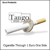 Cigarette Through 1 Euro (One Sided) by Tango