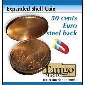 Expanded Shell Coin - 50 Cent Euro (Steel Back) by Tango