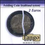 Folding Coin - 2 Euros (Traditional) by Tango