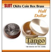 Slot Okito Coin Box Brass Half Dollar