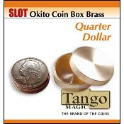 Slot Okito Coin Box Brass Quarter