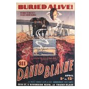 David Blaine Autographed Poster - Buried Alive
