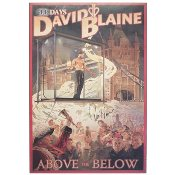 David Blaine Autographed Poster - Above The Below