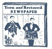 Abbotts Torn and Restored Newspaper