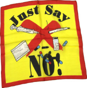 Just Say No to Drugs Silk 36""