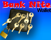 Bank Nite Wallet With Locks and Keys