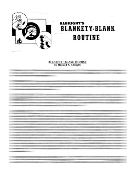 Instant Instruction Download - Blankety Blank Routine