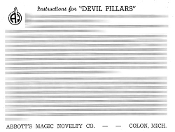 Instant Instruction Download - Devils Pillars