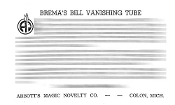 Instant Instruction Download - Bremas Bill Vanishing Tube