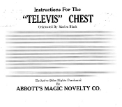 Instant Instruction Download - Televis Chest