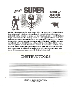 Instant Instruction Download - Super Bowl of Water Production