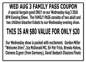 Wednesday Evening Show Family Package
