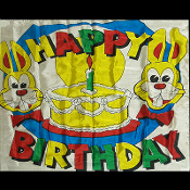 "Production Silk 16""x16"" (Happy Birthday)"