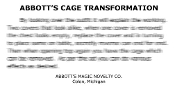 Instant Instruction Download - Abbott's Cage Transformation