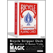 Bicycle Stripper Deck Red