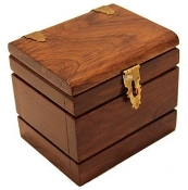 Watch Box Deluxe Teak