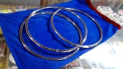 Gently Used Chrome Linking Rings, 3-pc set, 10-inch